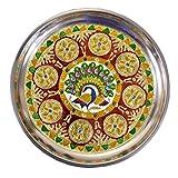 Maitri Creation handicraft handmade meenakari pooja thali Size 9 inch