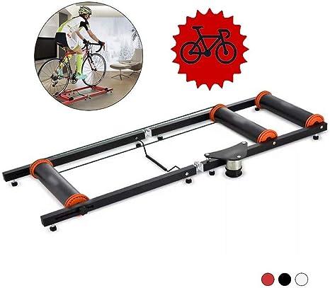 Soporte entrenamiento bicicleta - Entrenador bicicleta plegable Soporte entrenador bicicleta Entrenadores bicicleta Rodillos bicicleta mudos plegables interior Resistencia entrenamiento Máquina ejer: Amazon.es: Deportes y aire libre