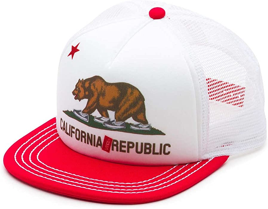6b12173d7e8 Vans Off The Wall Women s California Bear Snapback Trucker Hat Cap -  Lollipop