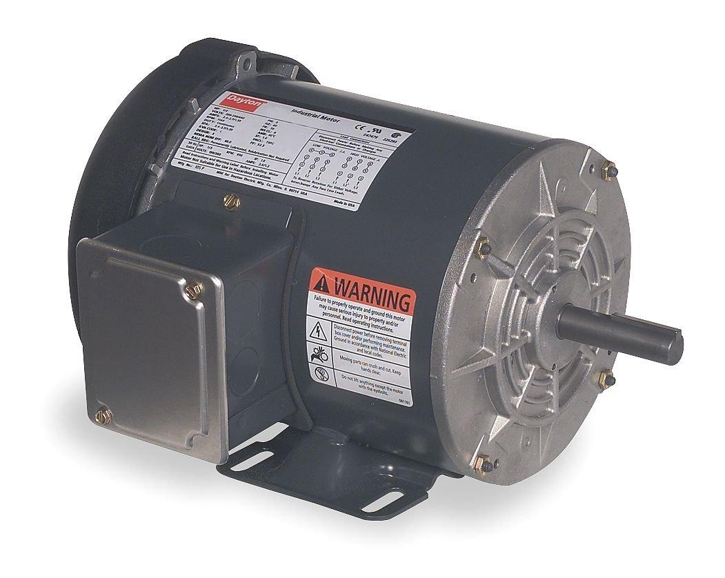 Dayton 3GC39 Motor, 1 HP, 3 Phase