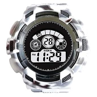 JiaMeng Hombre Deportes Reloj Digital, electrónico al Aire Libre Relojes Moda para Hombre Digital LED Reloj de Pulsera de Cuarzo analógico Fecha Deportes ...