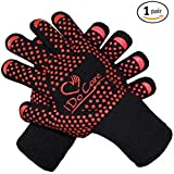 iDoCare Heat Resistant Oven Gloves, Cooking Gloves, Baking, Oven & Barbecue Gloves, Fire Gloves For Fireplace & Fire Pit, Use as Grilling Gloves & BBQ Gloves, Smoker, Grill & Kitchen Accessories