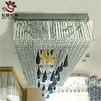 SAEJJSD-Luxus große Kristall Lampe Kristall große kreative Künste ...