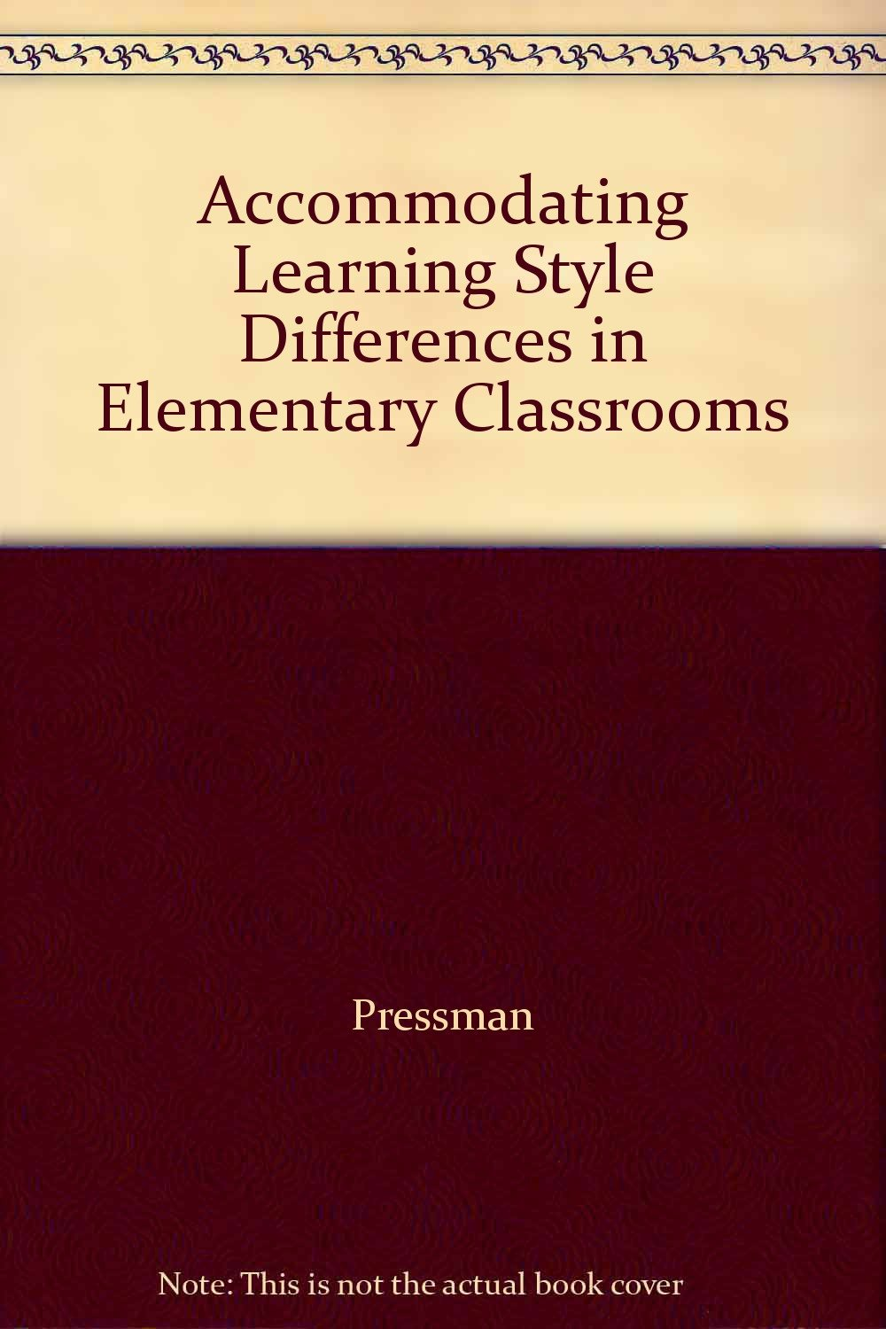 Accommodating learning styles in the classroom