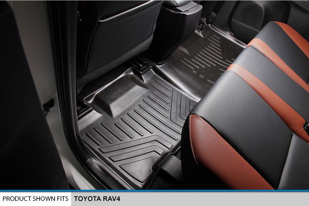SMARTLINER Floor Mats 2 Row Liner Set Black for 2013-2018 Toyota RAV4 Maxliner USA A0134//B0134 No Electric or Hybrid Models