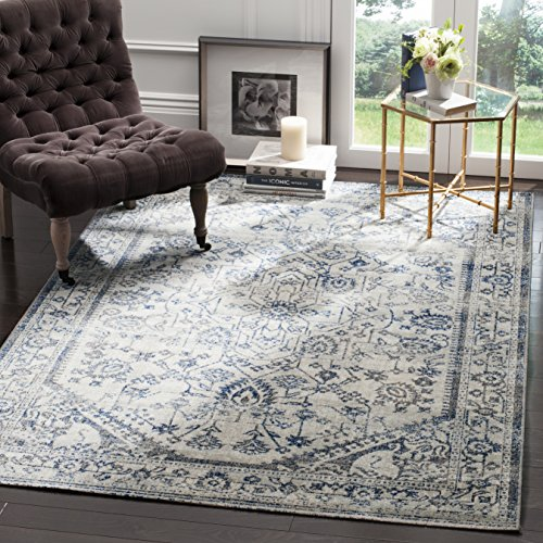 Safavieh Artisan Collection ATN318C Vintage Oriental Silver and Blue Distressed Area Rug (6'7