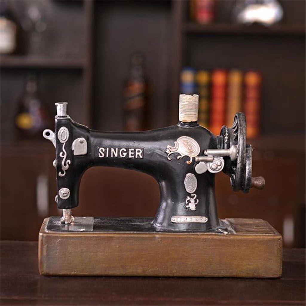 Wmshpeds American retro creativo, máquina de coser modelo tanque ...