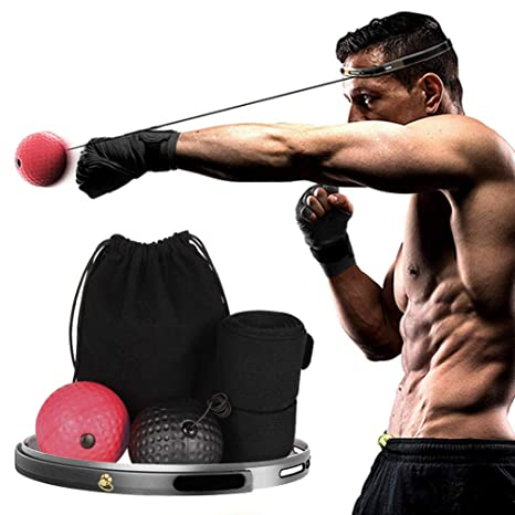 3 pack Boxing Fight Ball With Head Band Reflex Reaction Speed Training Muscle