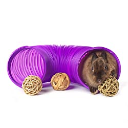 Niteangel Fun Tunnel with 3 Pack Play Balls for Guinea Pigs