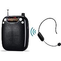 Stemversterker, SHIDU Wireless Voice Amplifier 10W oplaadbare draagbare PA-systeemluidspreker met FM draadloze microfoon…