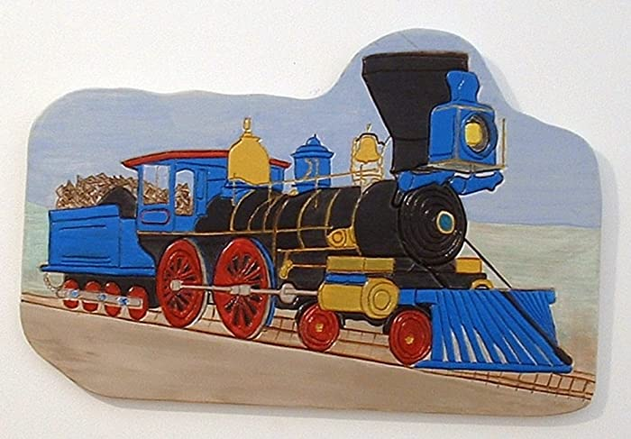 Amazon.com: Train Steam Engine, Wall Decor, Wood Sculpture: Handmade