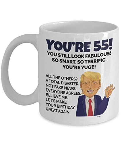 55th Birthday Mug 55 Year Old Funny Coffee Cup Gifts For Men Women
