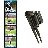 GolfJOC Patented Ultimate 4-in-1 CigarKaddy, Black, 8 x 4.5 x 2-Inch