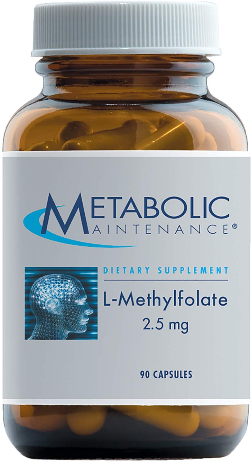 Metabolic Maintenance L-Methylfolate 2.5 Milligrams - Active Folate (L-5-MTHF) for Mood, Nerve + Cardiovascular Support (90 Capsules)
