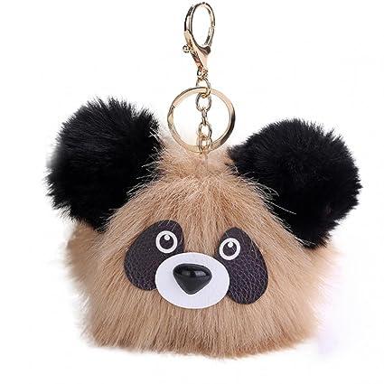 Amazon.com: Llavero con diseño de panda de felpa suave, para ...