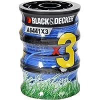 Black + Decker  AX107-BO Lot de 3 Bobines de fil reflex pour coupe-bordure