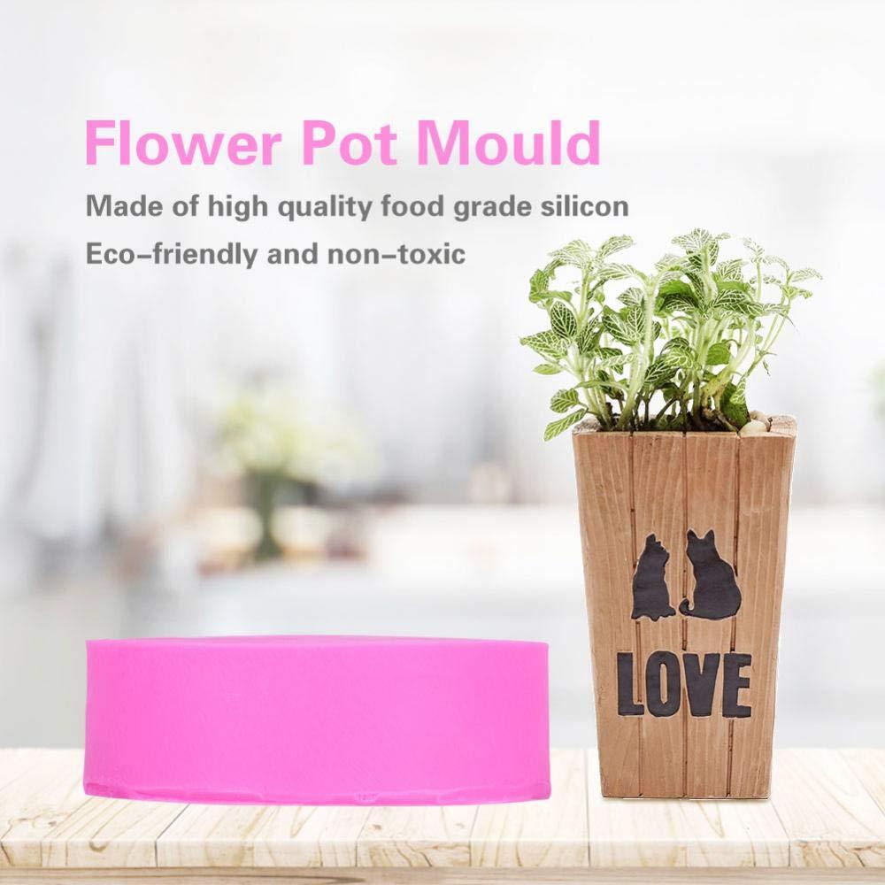 BK1077 Silicone Candle Molds Silicone Flower Pot Resin Mold Making Succulent Plants Planter Pot Mould Concrete Moulds