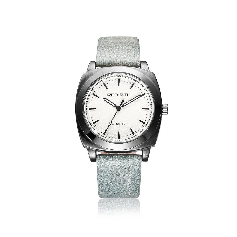 ファッション腕時計RebirthブランドクオーツMan Watchesレザー手首バンドWatch B06Y52P222