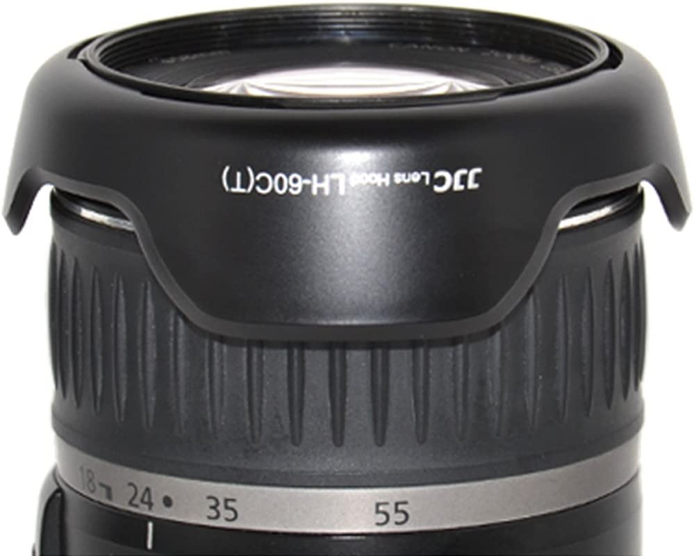 JJC LH-60C Lens Hood Shade for Canon EF 28-80mm f//3.5-5.6 II EF 28-90mm f//4-5.6 III EF-S 18-55mm f//3.5-5.6 EF-S 18-55mm f//3.5-5.6 is II EF-S 18-55mm f//3.5-5.6 USM Replaces Canon EW-60C T