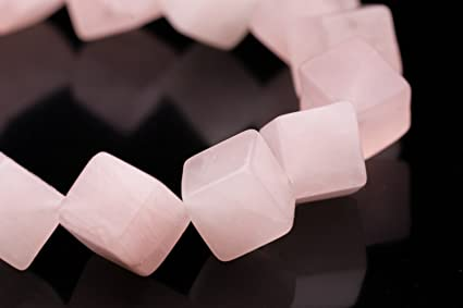Natural Rose Quartz Cube Box Shape Smooth Gemstone Beads4-6 mmQuartz Plain 3D Cube Box BeadsRose Quartz Beads For Jewelry Craft