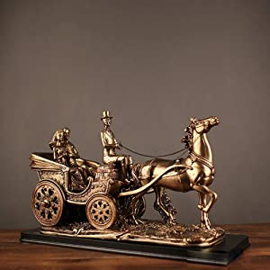 BICCQ Statues European Travel Carriage Ornaments Resin Crafts New Home Decor Ideas Wedding Gifts Wholesale (45 27 15cm)