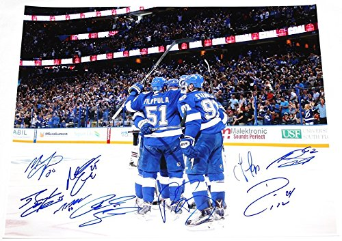 Tampa Bay Lightning Team Signed 16x20 Picture 9 Autographs COA