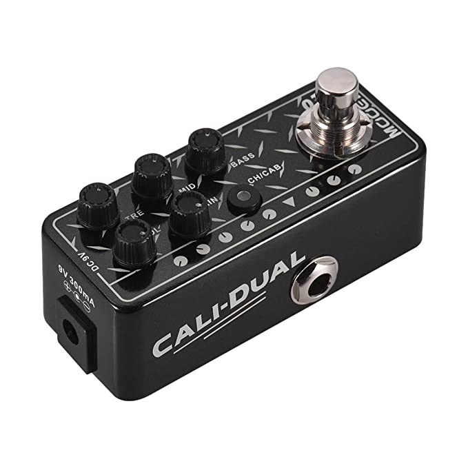 Muslady Mooer MICRO PREAMP Series 011 CALI-DUAL preamplificador digital Pedal de efectos guitarra Canales duales EQ de 3 bandas con True Bypass: Amazon.es: ...
