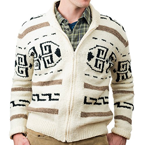 Big Lebowski Jeffrey The Dude Sweater Men's Large Movie Replica Cardigan Costume -