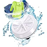 WAQIA Mini Washing Machine Portable Ultrasonic Turbine Washer, Portable Washing Machine with USB for Travel Business Trip or