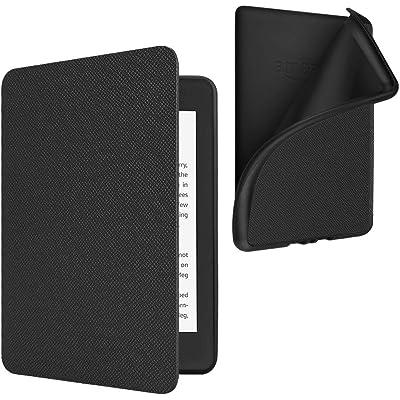 Fintie Funda para Kindle Paperwhite (10.ª generación, 2018) - Carcasa Ligera Trasera Protectora de TPU Suave con Función de Auto- Reposo/Activación, Negro