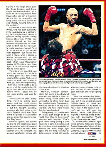 Diego Corrales Authentic Autographed Signed Magazine Page Photo S47523 PSA/DNA Certified Autographed Boxing Magazines