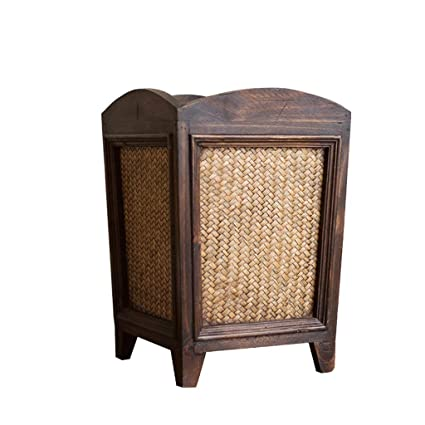 9b5cc3a98 Amazon.com  Zxwzzz Trash Can Home Office Living Room with Cover Creative  Bamboo Trash Can