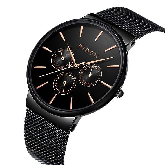 4e7a2fcb4c Orologio, orologi da uomo, in acciaio inox classico di lusso orologi da  polso casual
