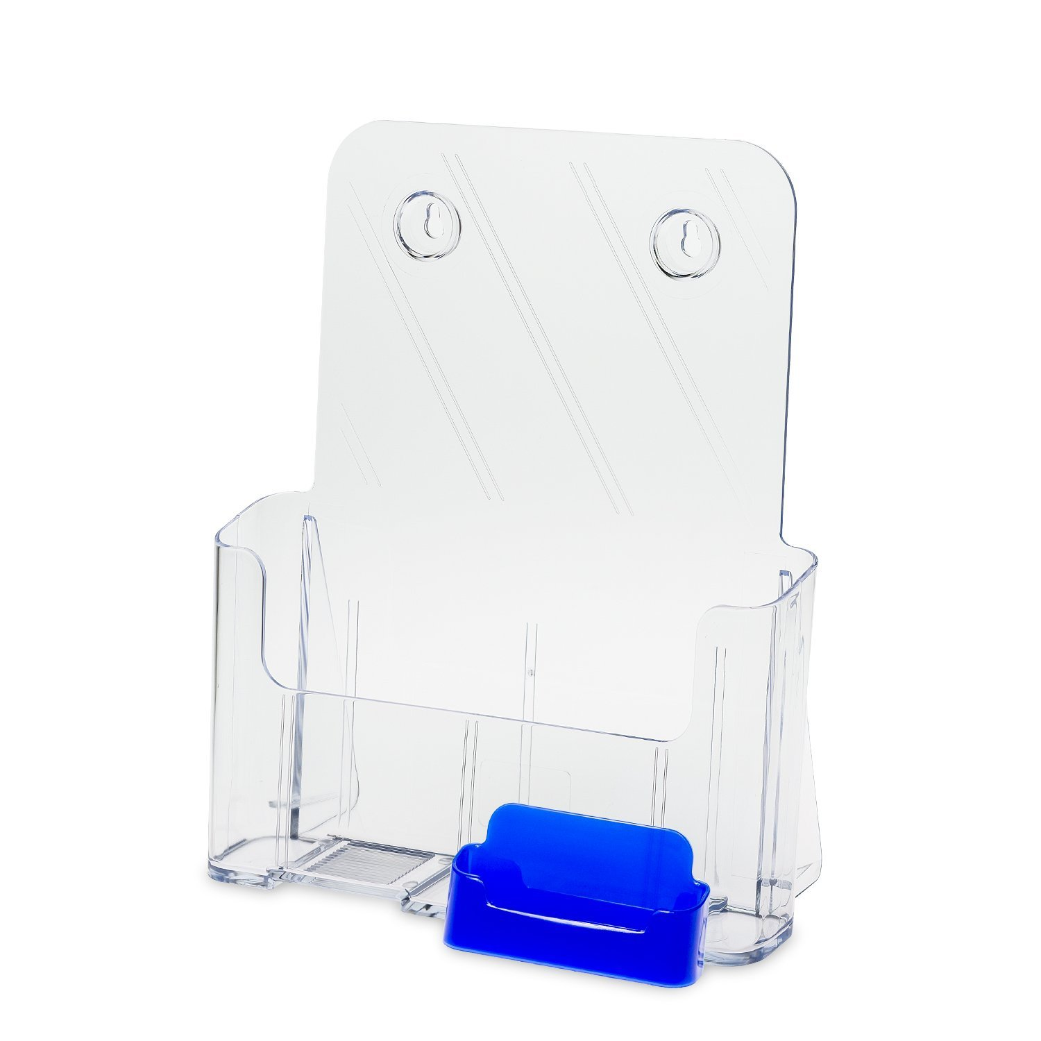 Source One Large Brochure Holder 8.5 x 11 Inches with Business Card Holder (1 Pack, Blue)