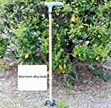 CW&T WW Old People Crutches Aluminum Alloy With Lights Telescopic Non-Slip Medical Insurance Small Three Foot Crutches