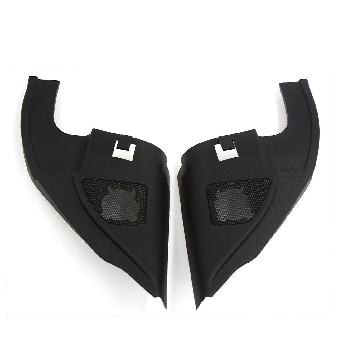 uxcell 2 Pcs 6 x 5.5cm Mesh Black Car Horn Trumpet Dustproof Cover for Nissan Sylphy