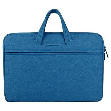 Maletín para Ordenador portátil con Funda de Transporte, Funda Protectora para Mujer y Hombre, Cuaderno para Ordenador portátil (Color: Azul, tamaño: 11,6 ...
