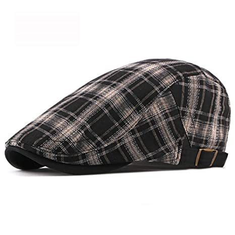 Azly-Caps Gorra de Vendedor de periódicos de Tweed Cuadrada de ...