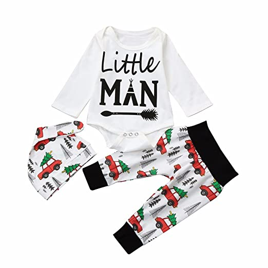 feiXIANG Ropa de bebé recién Nacido Primavera y otoño Traje de bebé Mujer Mono del bebé Carta Mono Manga Larga + Pantalones + Sombrero 0-24 Meses: ...