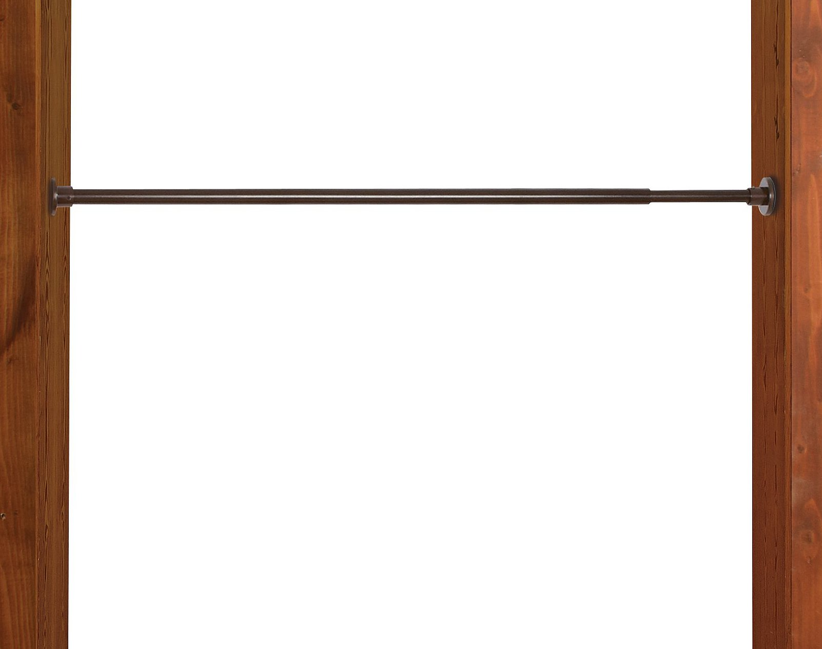 Versailles Home Fashions Stainless Steel Indoor and Outdoor 66/120-Inch Duo Tension Rod, 3/4-Inch Diameter, Espresso