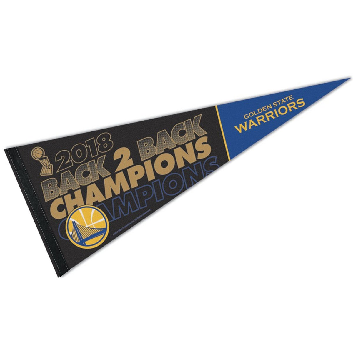 WinCraft Golden State Warriors 2018 NBA Champions Pennant Flag