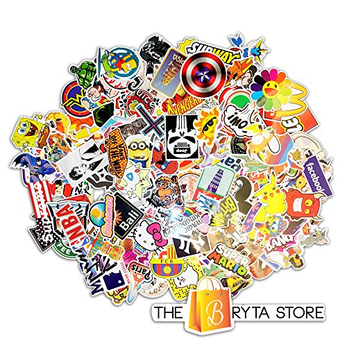 (200 PREMIUM Stickers Decals Vinyls | Pack of The Best Selling Quality Sticker | Perfect To Graffiti Your Laptop, Skateboard, Luggage, Car, Bumper, Bike, Hard Hat | The Bryta)
