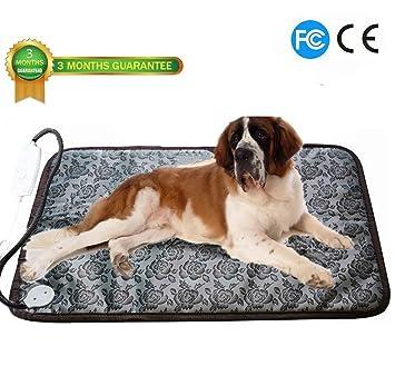 Ubei - Alfombrilla de calefacción eléctrica para Perro y Gato, Ajustable, Resistente al Agua
