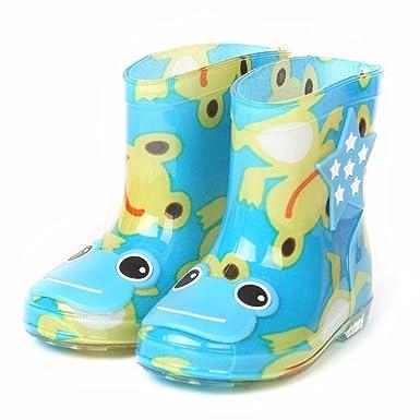 amazon com ama tm toddler baby cartoon waterproof rain boots
