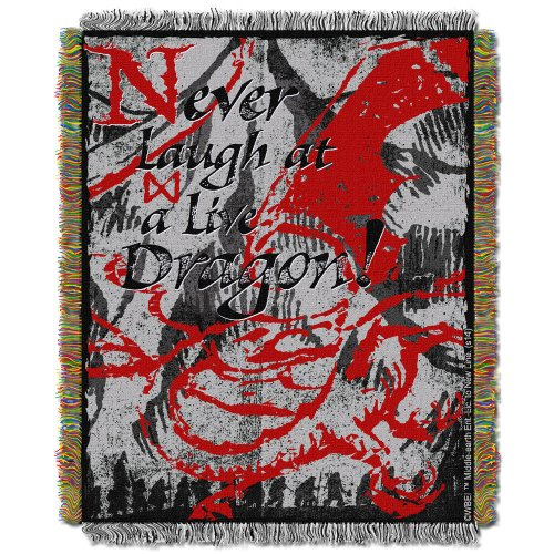 Warner Bros. The Hobbit: The Desolation of Smaug Never Laugh at Live Dragon Tapestry Throw Blanket