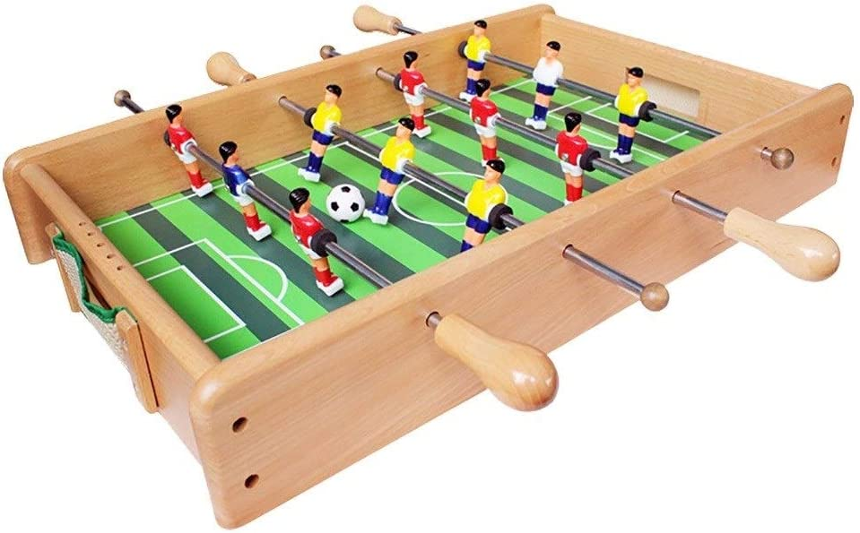 Futbolines Recuerdos De Juguete De Mesa Fútbol Máquina De Escritorio Boy Adult Entertainment Doble De Madera For Niños (Color : Wood Color, Size : 53 * 33 * 8cm): Amazon.es: Hogar
