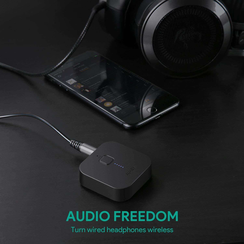 Receptor de audio para m/óviles 3.5 mm, Bluetooth, A2DP negro Aukey BR501