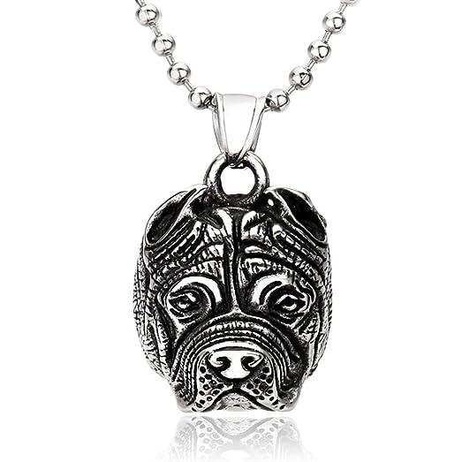 Mens womens punk pitbull bulldog animal silver 316l stainless steel mens womens punk pitbull bulldog animal silver 316l stainless steel pendant necklace aloadofball Gallery