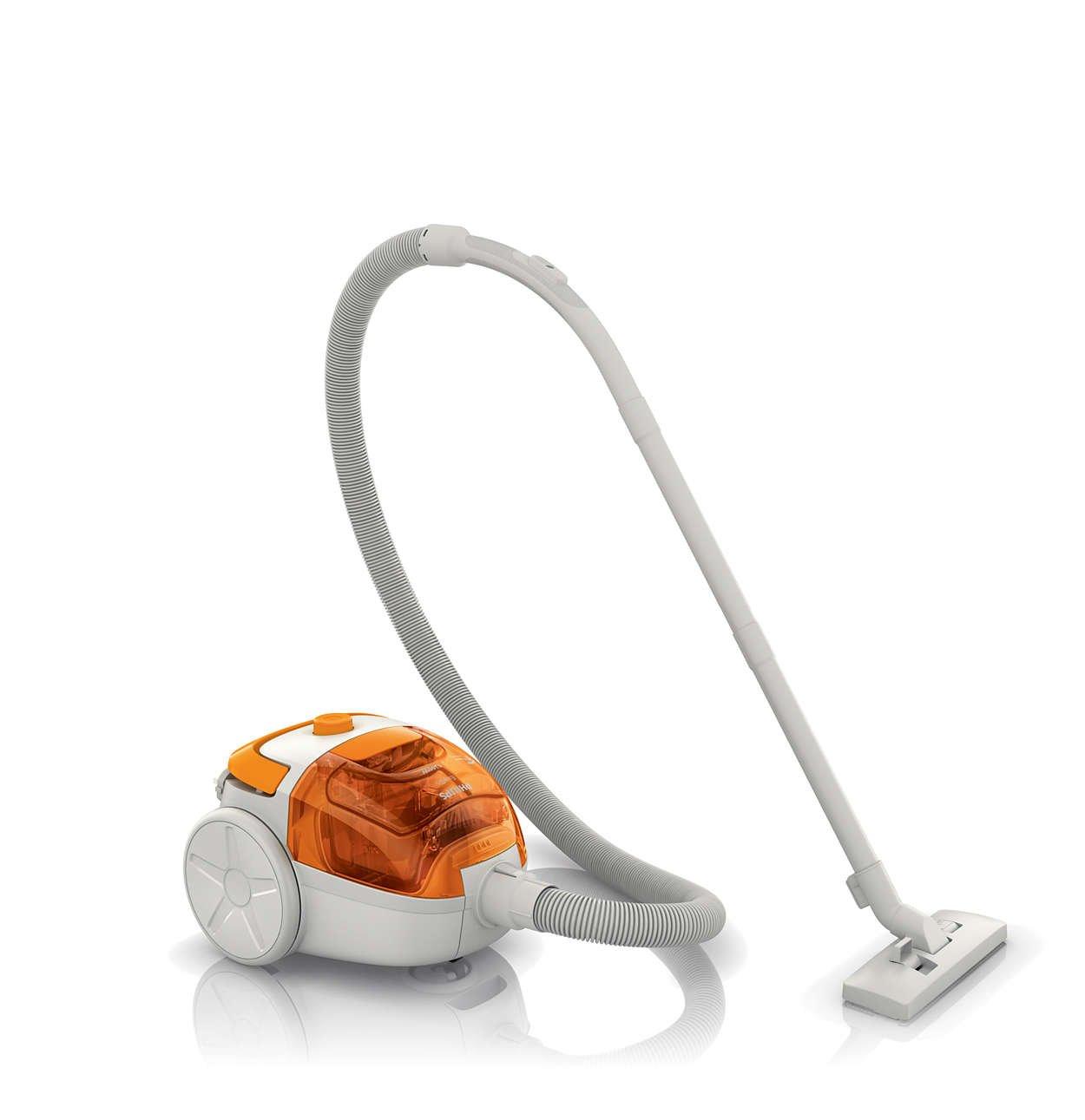 Philips FC8085/01 Bagless Vacuum Cleaner (Orange)