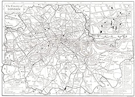 central london inset map of the west end 1910 old map antique